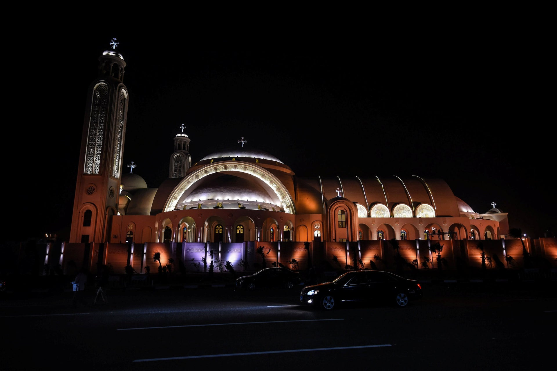 General view of the newly inaugurated Cathedral of Nativity in Egypt's New Administrative Capital, 45 kilometres (28 miles) East of Cairo, on January 6, 2019.