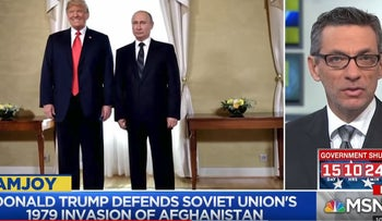Trump under fire for echoing Russian talking points