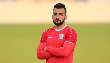 Abdullah Jaber, the star left back of the Palestinian national soccer team.