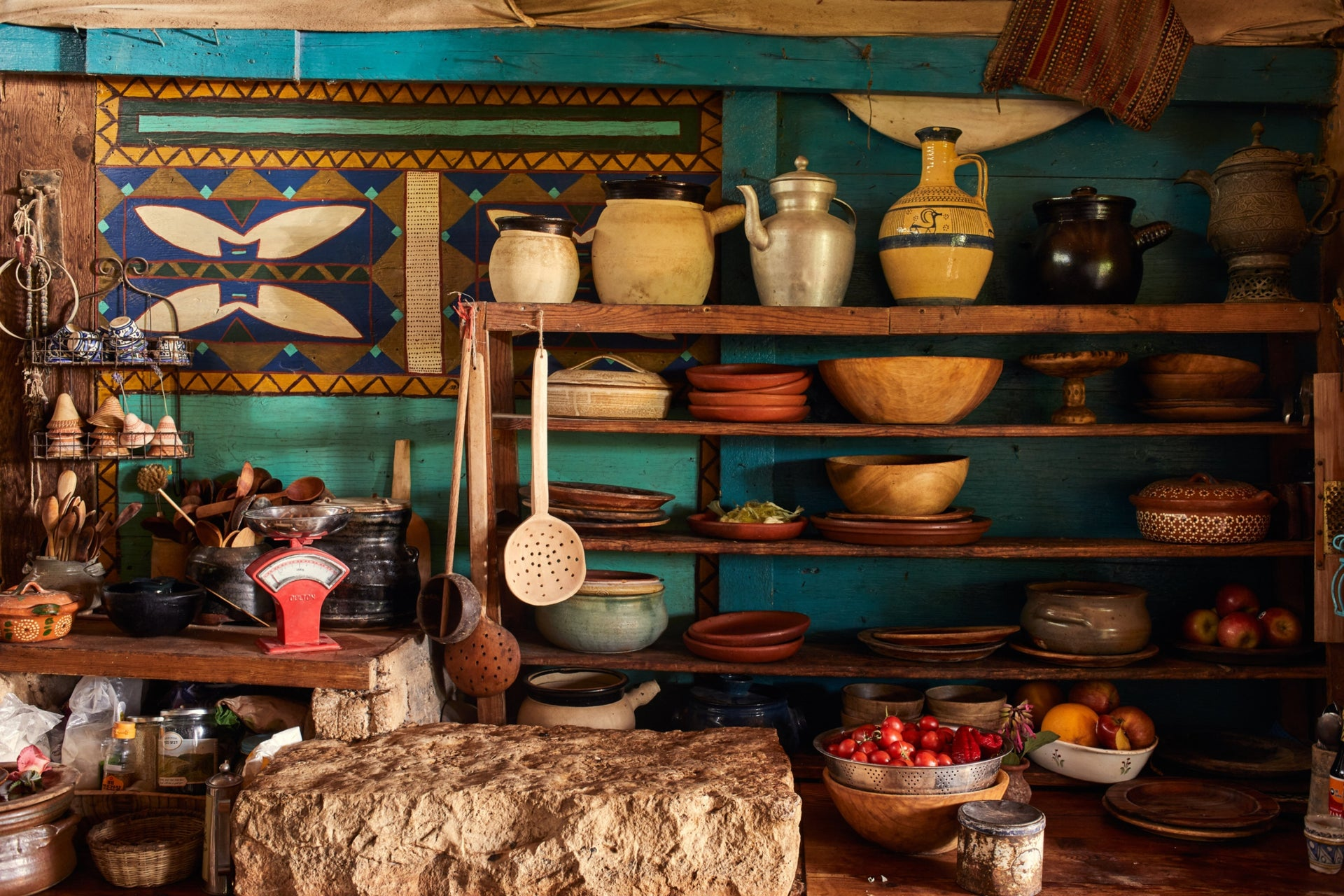Cooking utensils at Goats with the Wind. Whatever the reason, the cheeses prepared there have a saliently distinctive taste.