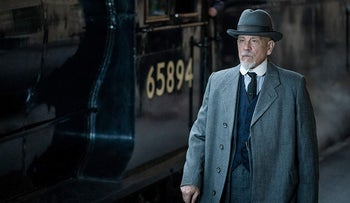 """John Malkovich as Hercule Poirot in """"The ABC Murders."""" A rather ho-hum mystery whose big reveal is likely to elicit a rather underwhelming """"meh."""""""