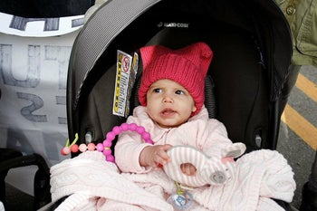 Jamie Oksenhorn's daughter Alma at the Women's March in New Jersey, January 2018.