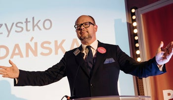 Gdansk's Mayor Pawel Adamowicz speaks during an election campaign meeting in Gdansk, Poland October 27, 2018.