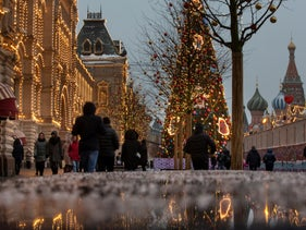 People walk in Red Square in Moscow, Russia, December 4, 2018.