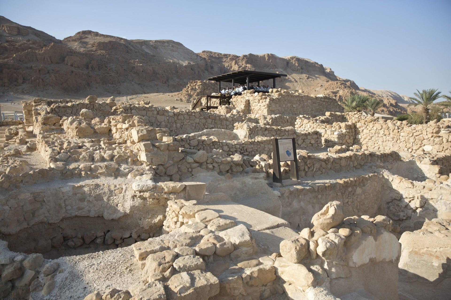A view of Qumran.