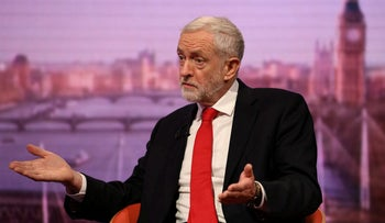 Britain's opposition Labour party leader Jeremy Corbyn appears on the BBC's Andrew Marr Show, London, UK. January 13, 2019