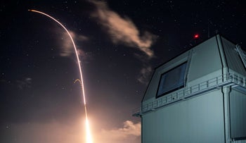 File photo: Launch of the U.S. military's land-based Aegis missile defense testing system on December 10, 2018.