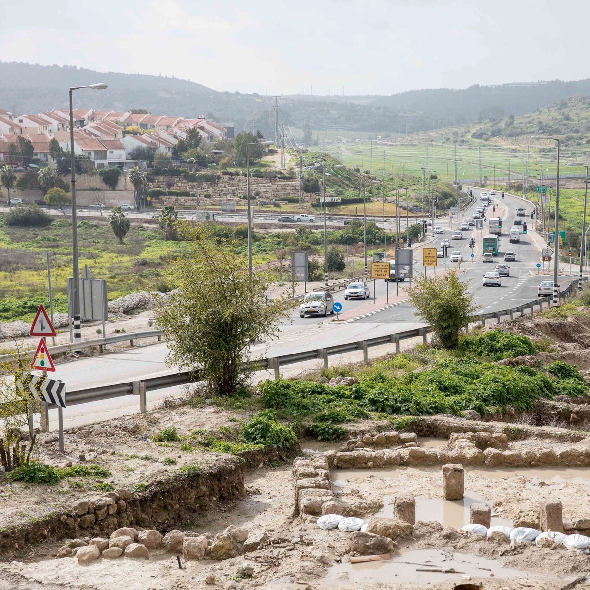 Route 38 in the Tel Beit Shemesh area.