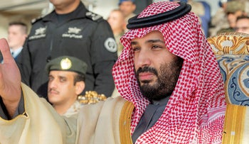 Saudi Arabia's Crown Prince Mohammed bin Salman attends a graduation ceremony for the 95th batch of cadets from the King Faisal Air Academy in Riyadh, Saudi Arabia, December 24, 2018.