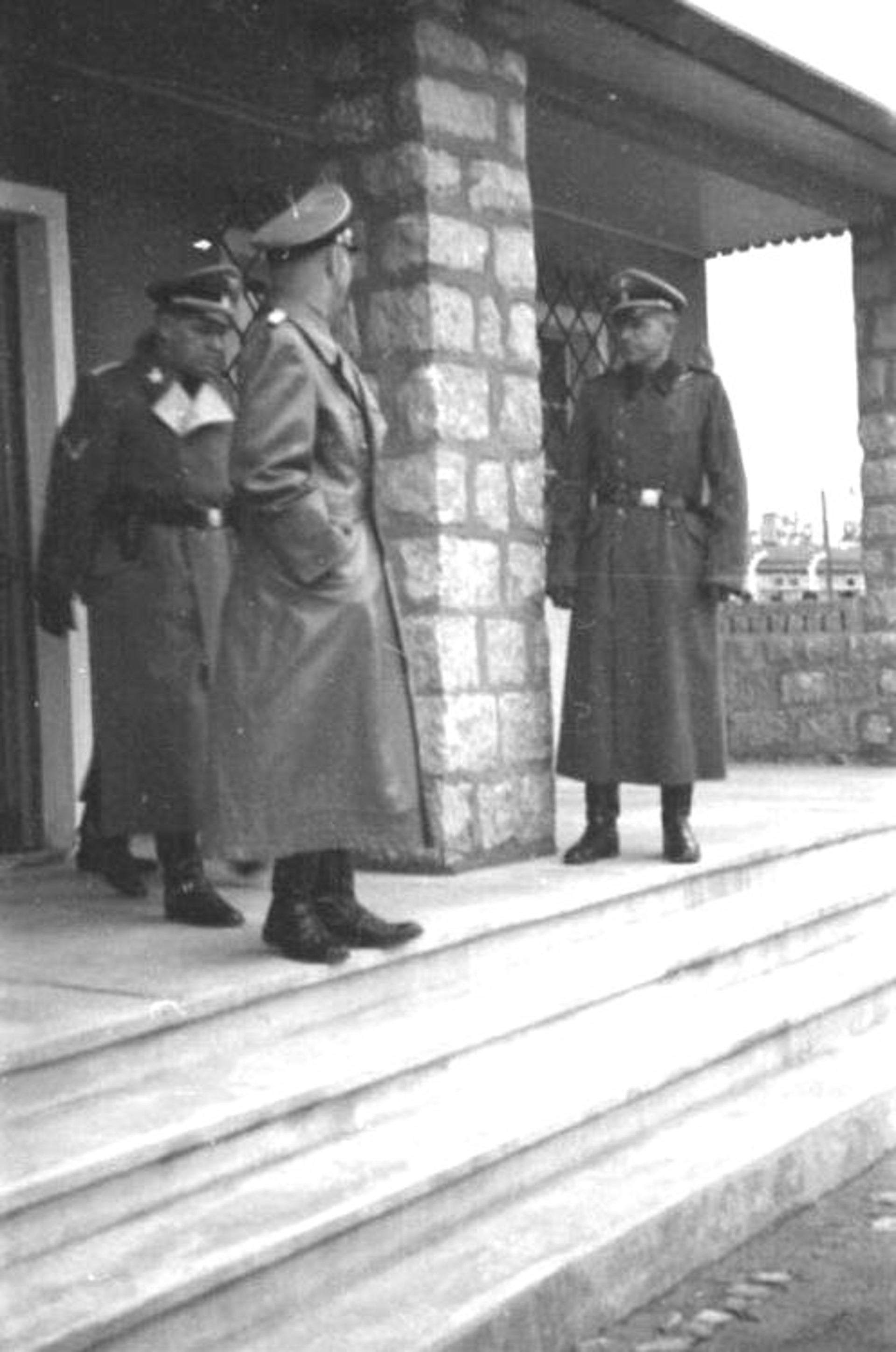 Himmler tours a brothel at the Mauthausen Concentration Camp.