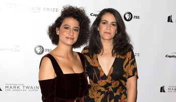 Ilana Glazer and Abbi Jacobson arrive at the Kennedy Center for the Performing Arts for the 21st Annual Mark Twain Prize for American Humor on Sunday, October 21, 2018.