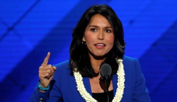 U.S. Representative Tulsi Gabbard (D-HI) on the second day at the Democratic National Convention in Philadelphia, Pennsylvania, U.S. July 26, 2016