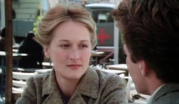 """Meryl Streep played the Christian daughter-in-law in a Jewish family in """"Holocaust."""" (Screenshot from """"Holocaust"""" via IMDb)"""