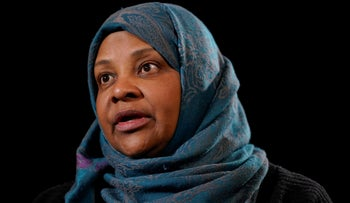 TV anchorwoman for Iran's state television Marzieh Hashemi speaks during a interview with the AP in Washington, January 24, 2019.