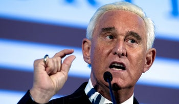 FILE PHOTO: Roger Stone speaks at the American Priority Conference in Washington, December 6, 2018