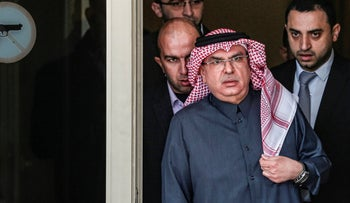 Mohammed al-Emadi, chairman of Qatar's National Committee for the Reconstruction of Gaza, arrives before a press conference in Gaza City on January 25, 2019.
