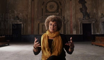 """File photo: Angela Davis in a scene from the Netflix film """"13th"""", September 2016."""