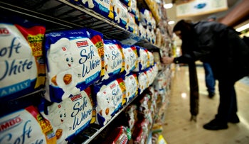 File photo: Grupo Bimbo SAB brand bread sits on display at a supermarket in Princeton, Illinois, U.S., March 5, 2013.