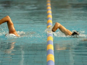FILE Photo: An Israeli swimmer competing in the Paralympic Games.