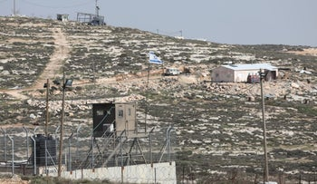 Adei Ad outpost in the West Bank, January 27, 2019.