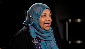 Marzieh Hashemi speaks during an interview with the Associated Press, January 24, 2019