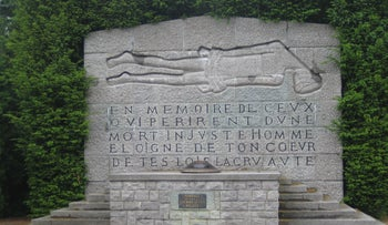 File photo: Memorial to victims of the Ascq massacre of 1944, France, May 2006.
