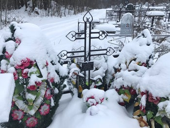 A view of the grave of Russian private military contractor Konstantin Danilogorsky, killed in Syria, at a cemetery in Kirov, Russia November 27, 2018.