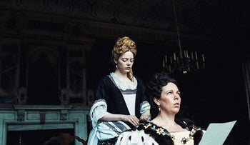 """Emma Stone and Olivia Colman in """"The Favourite."""""""