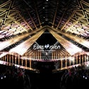 A simulation of the Eurovision Song Contest stage in Tel Aviv for the 2019 event from May 14-18.