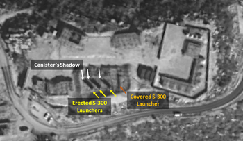 Satellite images showing the S-300 missile batteries in Masyaf, Syria, February 5, 2019.