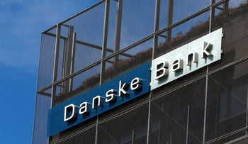 FILE PHOTO: Danske Bank sign is seen at the bank's Estonian branch in Tallinn, Estonia August 3, 2018.