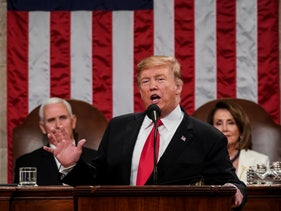 President Trump gives his State of the Union address to a joint session of Congress at the Capitol in Washington, on Tuesday, February 5, 2019.