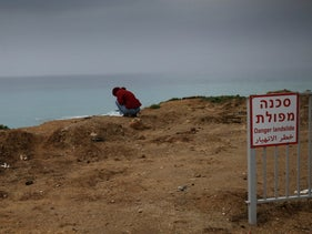 The view from the Ashkelon cliff, February 6, 2019.