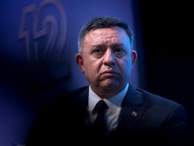 File photo: Labor Party chairman Avi Gabbay attends the annual conference of the Institute for National Security Studies in Tel Aviv, Israel, January 29, 2019.