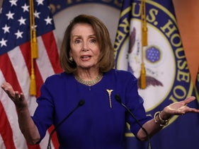 File photo: U.S. Speaker of the House Nancy Pelosi speaks during her weekly news conference on February 7, 2019 in Washington, February 7, 2019.