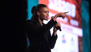 Candace Owens speaking at the 2018 Student Action Summit hosted by Turning Point USA at the Palm Beach County Convention Center in West Palm Beach, Florida