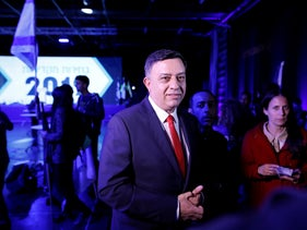 Chairman of the Labor party, Avi Gabbay, at the party's primaries, Tel Aviv, February 11, 2019.