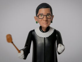 A U.S. Supreme Court Justice Ruth Bader Ginsburg action figure is displayed at the Brooklyn product design company FCTRY's offices in New York, U.S., January 25, 2019.