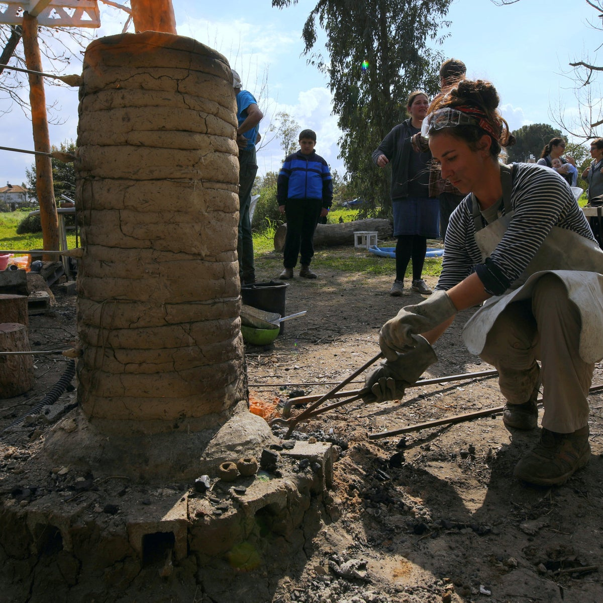 The archaeologists suspect that  iron smelting kilns were disposable