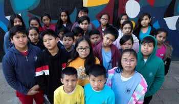 The children of migrant workers who were deported this summer, and children who are to be deported in the future, February 17, 2019.