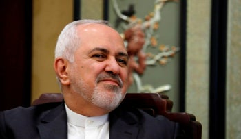 File photo: Iran's Foreign Minister Mohammad Javad Zarif in Beijing, February 19, 2019.