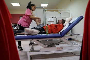 A patient undergoes ALS treatment in the U.S.
