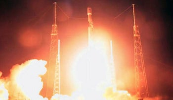 The SpaceX rocket that took off from Florida's Cape Canaveral carrying Israel's Beresheet spacecraft, on Thursday, February 21, 2019.