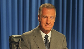 File photo: Spiro T. Agnew, shown after his address to the Nation from Washington D.C. following his resignation as Vice President in 1973.