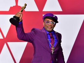 Spike Lee poses in the press room with the Oscar during the 91st Annual Academy Awards at the Dolby Theater in Hollywood, California, February 24, 2019.