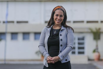 Yael Eckstein, who now heads the International Fellowship of Christians and Jews.