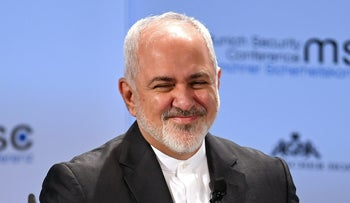 Iran's Foreign Minister Mohammad Javad Zarif at the annual Munich Security Conference in Munich, Germany, February 17, 2019.