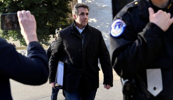 Michael Cohen, President Donald Trump's former personal attorney, leaves Capitol Hill in Washington, February 21, 2019.