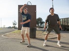 """Mark Duplass (left) and Ray Romano in """"Paddleton."""""""