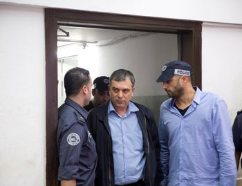 Shlomo Filber, former director general of the Communications Ministry, being remanded in court in May, 2018.